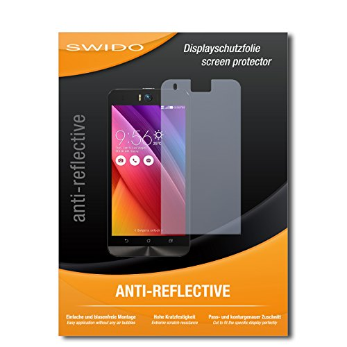 SWIDO Bildschirmschutz für Asus ZenFone Selfie [4 Stück] Anti-Reflex MATT Entspiegelnd, Hoher Festigkeitgrad, Schutz vor Kratzer/Glasfolie, Schutzfolie, Bildschirmschutzfolie, Panzerglas Folie