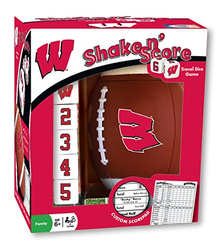 MasterPieces NCAA Wisconsin Badgers Shake N' Score Travel Dice Game