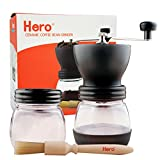 コーヒーミル 手挽きコーヒーミル ーヒーメーカー セラミック 手動 出勤 修学 持ちやすい (ブラック)