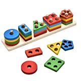 KanCai Juguetes educativos para niños de Madera Formas geométricas Tablero...