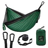 Amaca da campeggio, doppia e singola amaca portatile con cinghie, in nylon leggero, paracadute, amache da campeggio, attrezzatura per attività all'aperto, viaggi, escursioni, spiaggia