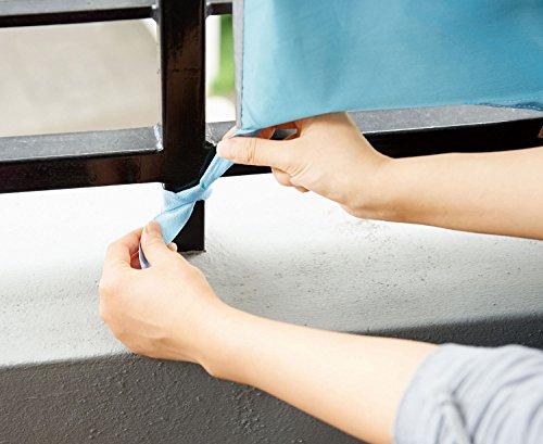コジット(COGIT)晴雨兼用ベランダ遮熱カーテン【ブルー/ワンサイズ】