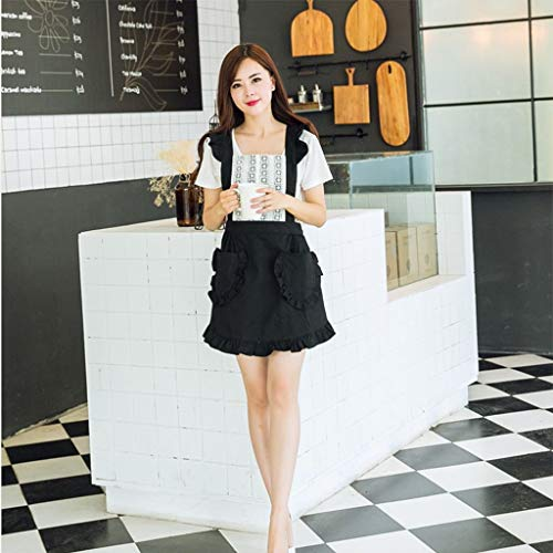 YLCJ Koreanische Art-Baumwollspitze-Prinzessin Princess Milk Tea-Geschäft Coffee-Geschäft Cake-Geschäft Arbeitskleidung Bunny (Farbe: Lila)