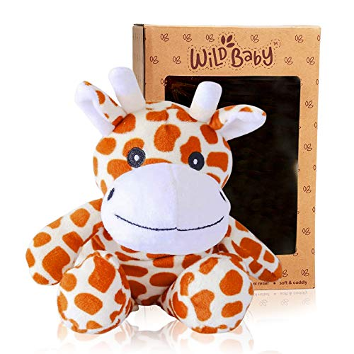 """WILD BABY Giraffe Stuffed Animal - Heatable Microwavable Plush Pal with Aromatherapy Lavender Scent for Kids - 10"""""""