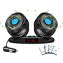 Image of 12V Car Fan with 360...: Bestviewsreviews