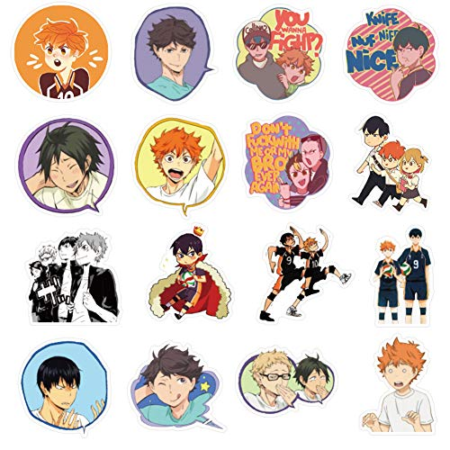 on ICE Anime Sticker Pack of 50 Stickers Waterproof Durable Stickers Classic Japanese Anime Stickers for Kids Teens Waterproof Stickers Yuri!!