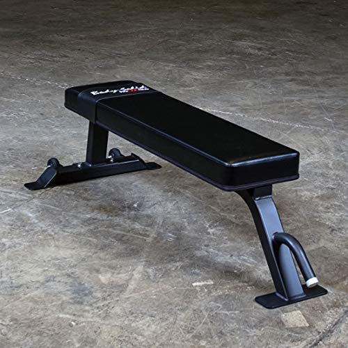 Body-Solid SFB125 Flat Weight Bench for Abdominal, Upper, and Lower Body Exercise,Black