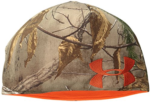 Under Armour Men's Reversible Camo Beanie, Realtree Ap-Xtra (946)/Dynamite, Small/Medium