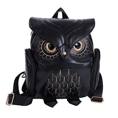Womens Fashion Owl Backpack Black | Gifts for Owl Lovers