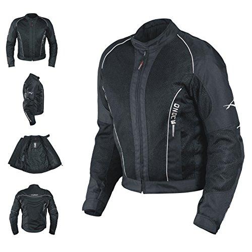 Giacca Mesh Traforato Traspirante Tessuto Tecnico Moto Touring Sport Nero L