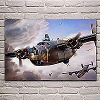 キャンバスアートポスター アメリカB 24Dヘビーボンバー統合USAAFリベレーター4エンジンリビングルームホームアート装飾ファブリックポスター (Size (Inch) : 58 x 90 CM No Frame)