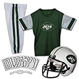 Franklin Sports New York Jets Kids Football Uniform Set - NFL Youth Football Costume for Boys & Girls - Set Includes Helmet, Jersey & Pants - Large