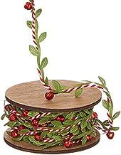 Vita Domi Guirnalda navideña de rayas rojas y blancas, 10 m
