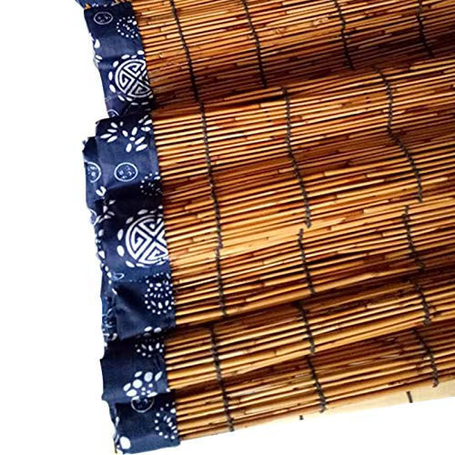 XIAOYUE Persianas de CañA Tejida Retro de 36 X 72 Pulgadas, Impermeable/Sombreado/ProteccióN UV, Persianas Decorativas para JardíN/Terraza/Puerta/Ventana/BalcóN, Personalizables (Venta Especial)