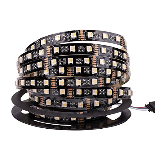 RGBW 4 in 1 LED Streifen, Dream Color 16.4Ft 300leds 5050 RGB +Weiß 4 in 1 LED Bänder, Farbe Ändern Flexible LED Streifen Lichter DC 12V Nicht Wasserdichte (Schwarz PCB)