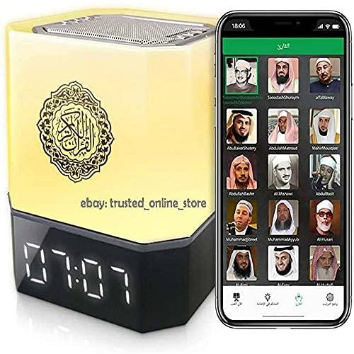LED Quran Touch Cube Lámpara Altavoz Inteligente - APP, Bluetooth, Remoto, Azan, Reloj