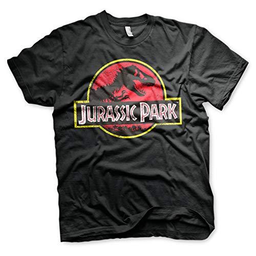 Jurassic Park Camiseta con Logo T-Shirt - 100% Oficial