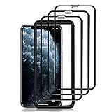 omitium Protector Pantalla para iPhone 11 Pro MAX, [3 Pack] Cobertura máxima iPhone XS MAX Cristal Templado [Marco Instalación Fácil] Sin Burbujas Dureza 9H Vidrio Templado iPhone 11 Pro MAX