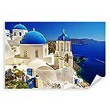 Postereck - 0084 - Santorin, Griechenland Urlaub Meer Dach