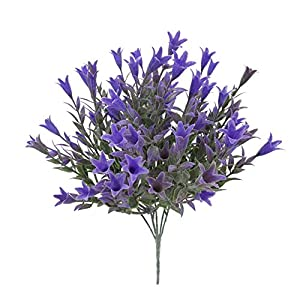 Campanillas Artificiales Liliums Hierba Decoración de ratán Flor simulada para el hogar Tienda de Pared Decoración para…