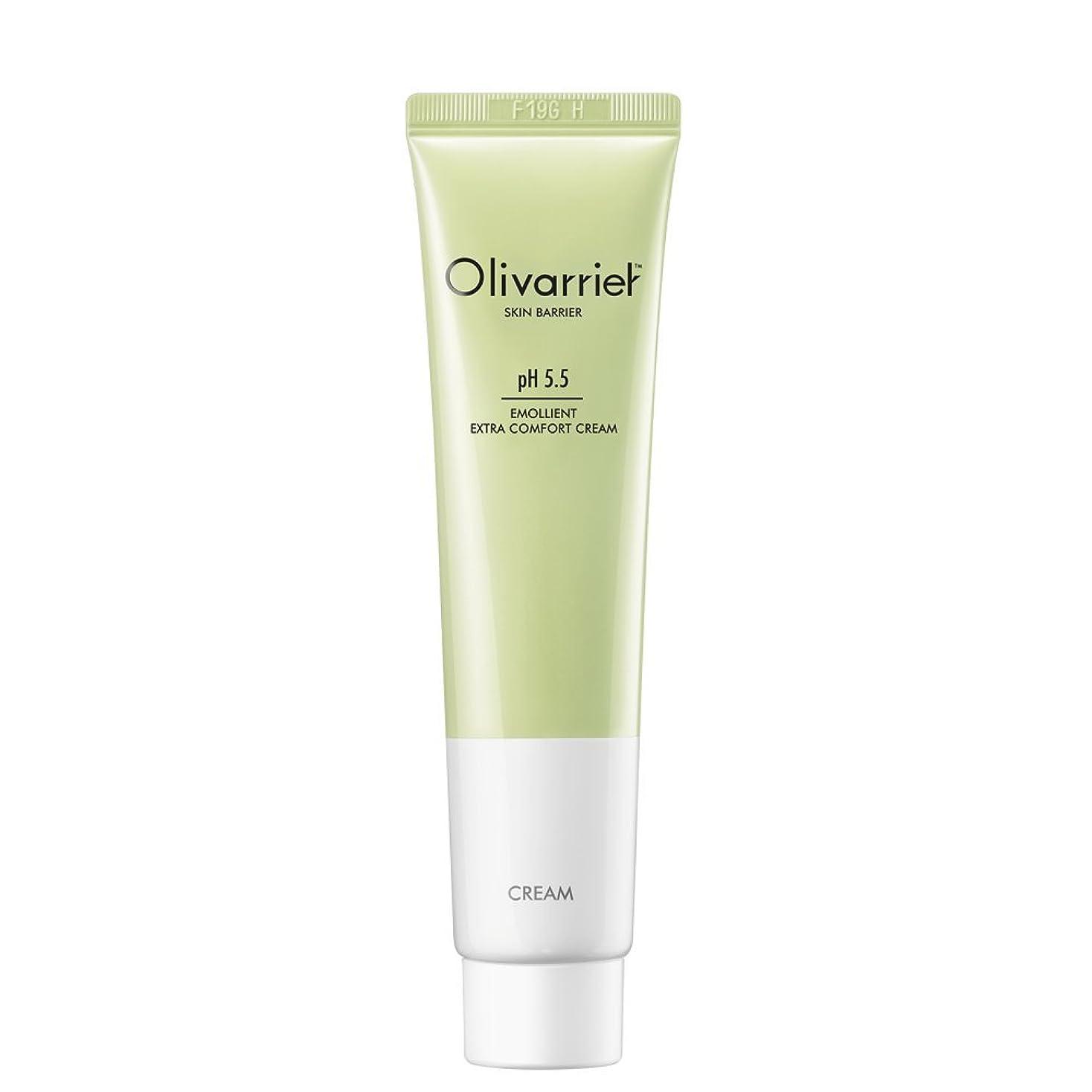 チャペル脈拍花火Olivarrier エモリエント エクストラ コンフォート クリーム 30mlベタつかず皮膚バリアを強化するパンテノール5%、オーガニックシアバター20%配合の無香料の鎮静効果のある全スキンタイプ対応のフェイシャルクリームです。