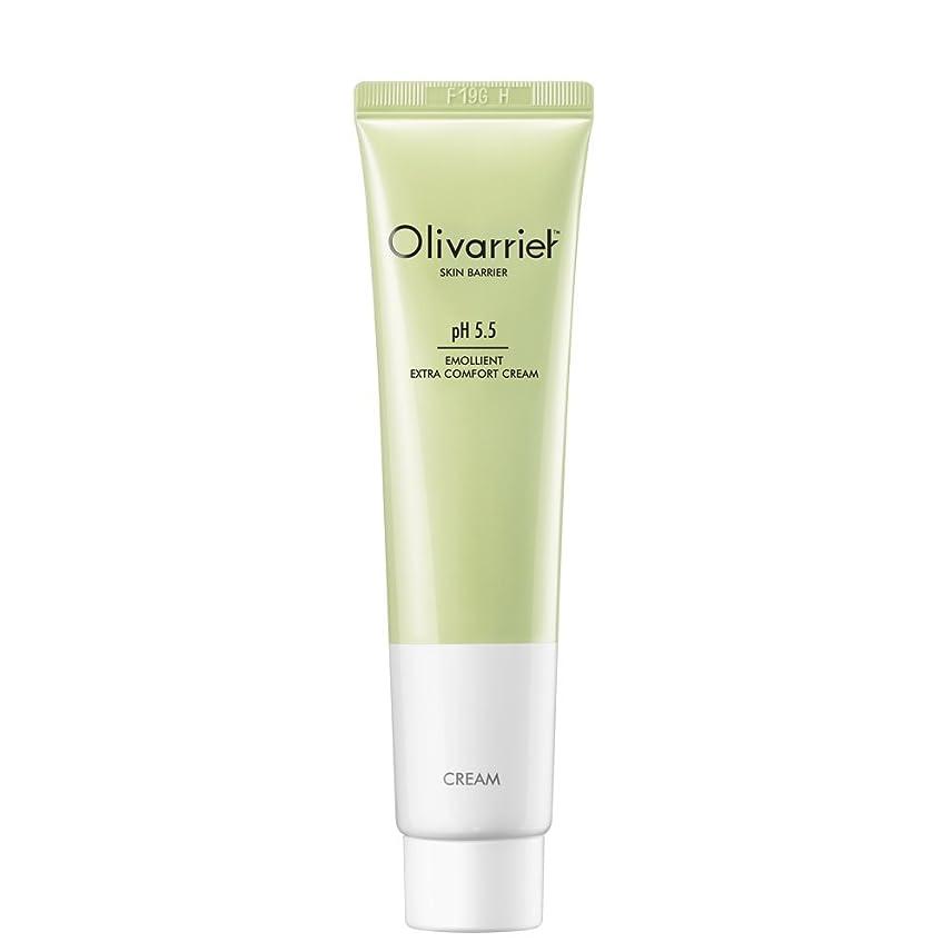 Olivarrier エモリエント エクストラ コンフォート クリーム 30mlベタつかず皮膚バリアを強化するパンテノール5%、オーガニックシアバター20%配合の無香料の鎮静効果のある全スキンタイプ対応のフェイシャルクリームです。