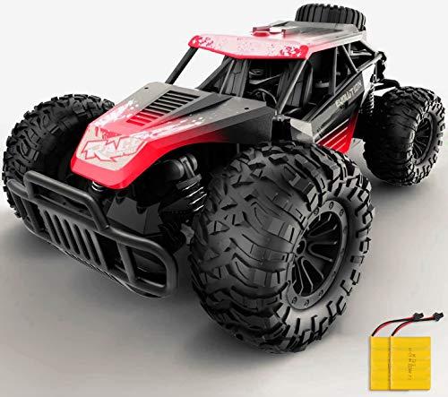 GizmoVine Auto Telecomando, Scala 1:14 Auto RC ad Alta velocità Buggy da Corsa Veloce con 2 batterie Ricaricabili, Camion Fuoristrada Giocattoli per Veicoli per Bambini Adulti Ragazzi Ragazze (Red)