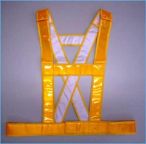 エース神戸 安全ベスト発光帯チョッキサイズ調整黄色反射テープ