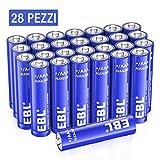 EBL Alcaline AAA Batterie (28 pcs) - 1.5V Tripla a Lunga-Durata Pile Alkaline AAA Potenti ...