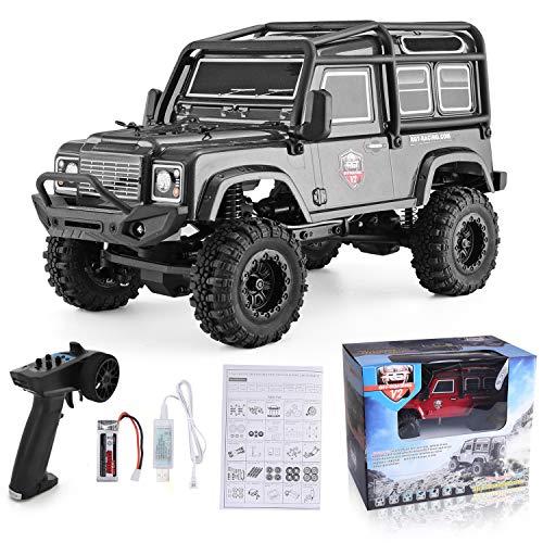 RGT RC Crawler 1:24 Scale 4wd Off Road Rock Crawler 4x4 Truck Mini RC Car (Gray)