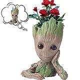 ACTRINIC Groot Pflanzentöpfe, Baum Mann Groot Blumentöpfe, Mehrzweck Kreativ Stift Halter, Auto...