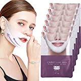 3/5/8/10pcs V Line Shaping Lifting Hydrogel Collagen Mask, V Shaped Slimming Firming Face Lift Double Chin up Patch Reducer Strap Intense Layer Masks, Neck Tape Anti Gravity Sheet (3pcs)