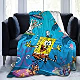 Ultra-Soft Micro Fleece Blanket Warm All Season Throw Blanket Fit Couch Bed Sofa for Adult Child,Black ,50'' x40