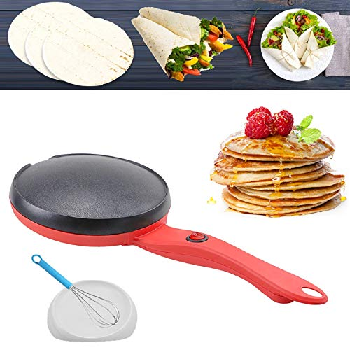 Portable Electric Crepe Maker with Non-Stick Coating,Electric Griddle Crepe Maker Automatic Temperature Control Hot Plate Cooktop for Crepes, Blintzes, Pancakes, Tortillas 1 Pack