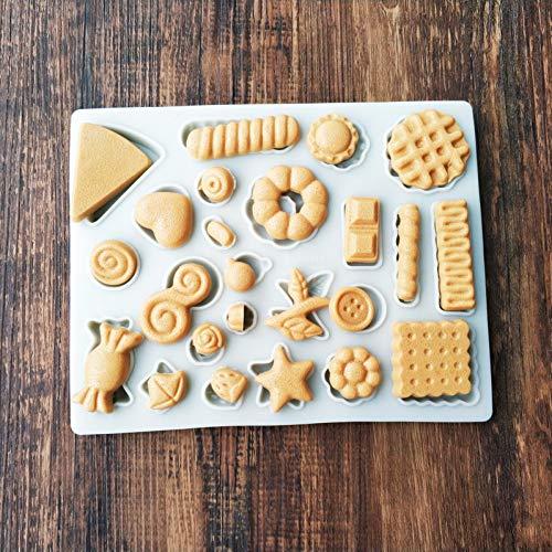 N/ A Cookie Snack Button Mold DIY verjaardagstaart Fondant Chocolade Silicone vorm Candy Mould Bakgereedschap