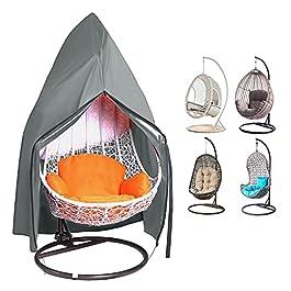 king do way Housse de chaise d'extérieur en rotin à suspendre – Imperméable et anti-poussière – Avec fermeture éclair…