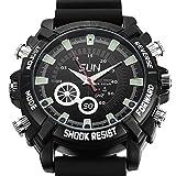 YUVILEX Spy Wired Night Vision and Waterproof Wrist Watch Camera 1920p x 1080p 8 GB Memory Card 2...