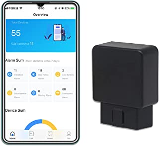 $69 » Sponsored Ad - WanWayTech 4G GPS Tracker for Vehicle,Real-Time OBD Car GPS Tracking Device,No Monthly Fee,Fuel Report,Vehi...
