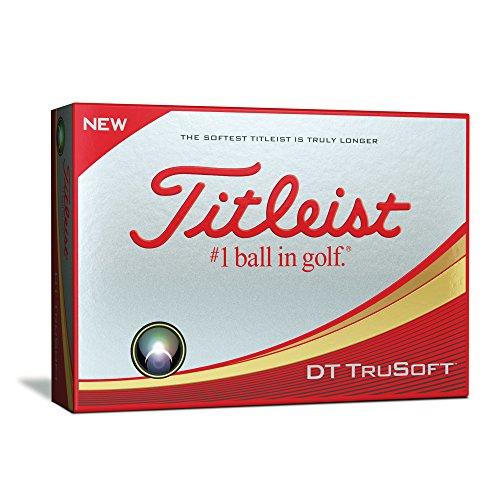mejores Bolas de golf estándar Titleist DT TRUSOFT Bolas Golf, Blanco, Talla Única