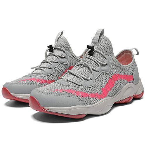 Aerlan Walking Shoes,Zapatos con Cordones para Hombres y Mujeres,Zapatos para Caminar Transpirables Zapatos para Exteriores Zapatos Deportivos Zapatos para Caminar Antideslizantes-Gris Claro_39#