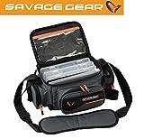 Savage Gear System Box Bag M (20x40x29cm) Ködertasche inkl. 3 Köderboxen & Ziplock Bags,...