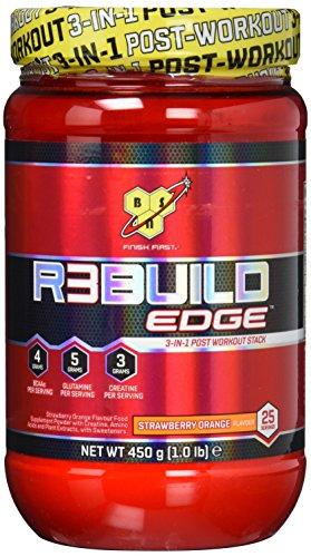 BSN REBUILD EDGE Post Workout Pulver (mit Aminosäuren: BCAA, Kreatin, Glutamin von BSN) strawberry orange, 25 Portionen, 450g