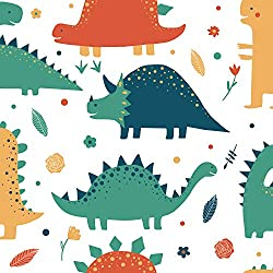 2. AMAZING WALL Dinosaur Pattern Peel and Stick Wallpaper