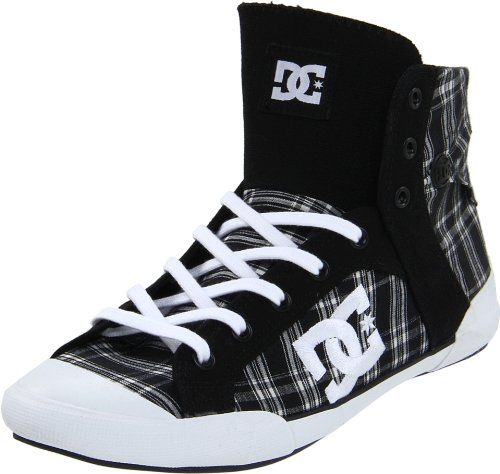 DC Women's Chelsea Z Hse Action Sports Shoe,Black/White/Plaid,11 M US