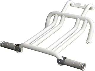 NCY 0800-1031 White Foot Rest with Pegs for the Hoda Ruckus 50cc Scooter