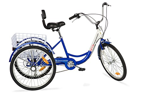 Komodo Cycling 24', 6-speed Adult Tricycle #7002 - Falcon (85% Preassembled + 1 Year Warranty)