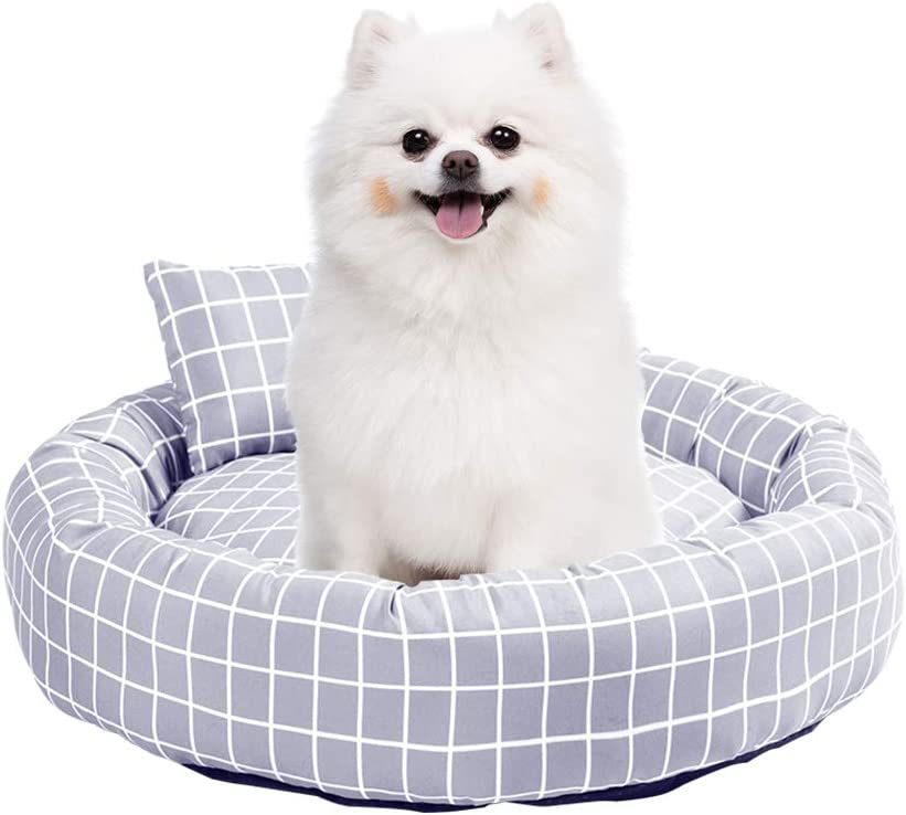 Joyreap Round Donut Grid Dog Bed 2021new shipping free shipping for C Cat Pet Topics on TV Cushion