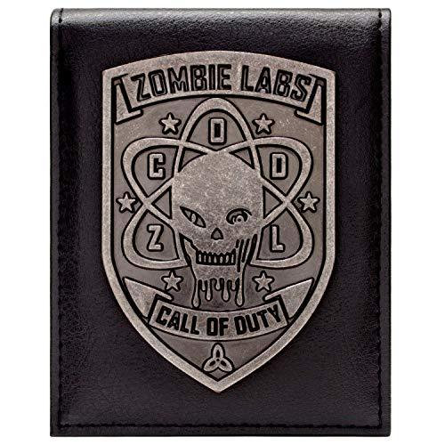 Call of Duty Zombies Silber-Abzeichen Schwarz Portemonnaie Geldbörse