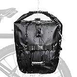 Rhinowalk 20L Fahrradtasche Wasserdicht Gepäckträgertasche Fahrrad Gepäckträger Seitentaschen Rolltop Radtasche Hinterradtasche