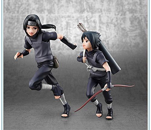 Rqcaxp Action Figuren Nendoroid Doll Anime Uchiha Itachi Sasuke Kindheit Kindheit Dunkles Outfit Ca. 32 cm Kinder Erwachsene und Anime-Fans